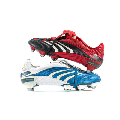 Adidas Predator Absolute Black / Blue Sample SG - Classic Soccer Cleats