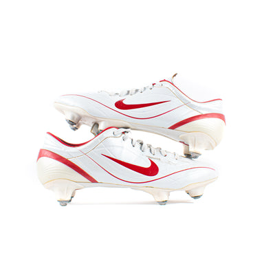 Nike Mercurial Vapor II White Red SG - Classic Soccer Cleats