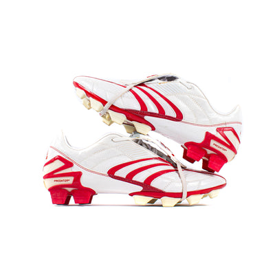 Adidas Predator Absolute White Red DB FG - Classic Soccer Cleats