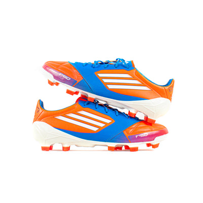 Adidas F50 Adizero Leather Red Blue FG - Classic Soccer Cleats