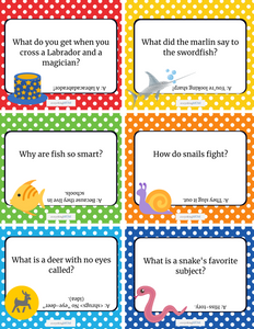 36 Printable Joke Cards for Kids (Questions & Answers)