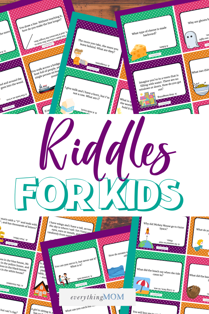 36 Printable Riddle Cards for Kids (Questions and Answers)