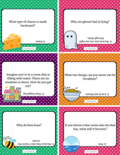 Load image into Gallery viewer, 36 Printable Riddle Cards for Kids (Questions and Answers)