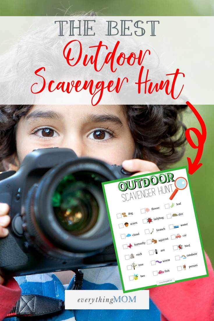 Outdoor Scavenger Hunt Checklist (FREE)