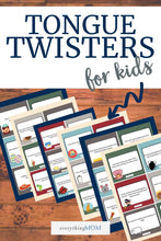 Load image into Gallery viewer, 36 Printable Tongue Twister Cards for Kids