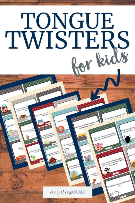 36 Printable Tongue Twister Cards for Kids