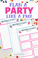 Load image into Gallery viewer, Birthday Party Planner