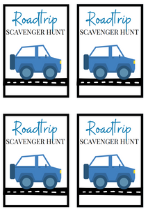 Road Trip Scavenger Hunt Cards