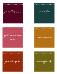 Seasonal Bucket List Printable Bundle