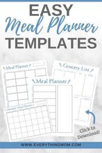 Load image into Gallery viewer, Weekly Meal Planner Template