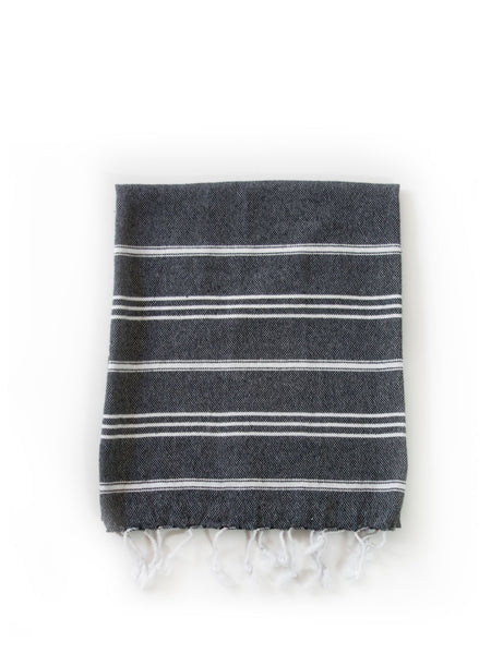Inspired 2 Give Black Hand Turkish Towel Original style