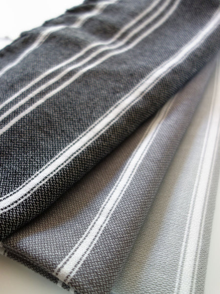 Inspired 2 Give Hand Turkish Towels Black and Greys