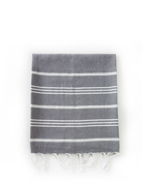 Inspired 2 Give Hand Turkish Towels Grey