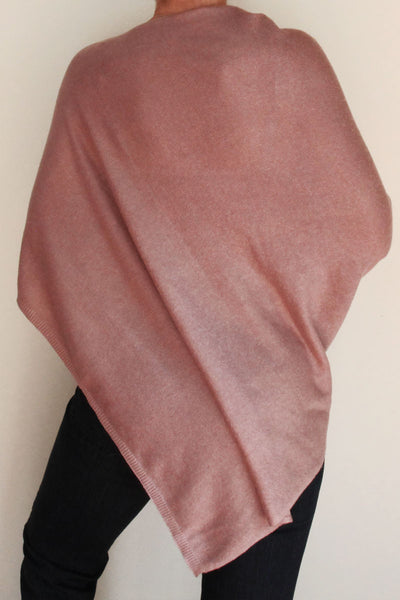 Dusty Pink Cashmere Poncho by Inspired 2 Give back
