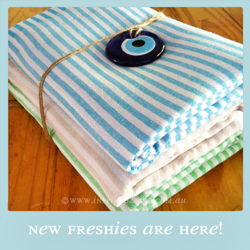 Freshies Turkish Towel - Turquoise, Coffee & Green  Inspired2give