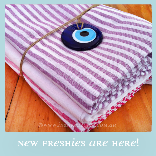 Freshies Turkish Towel - Fuschia, Baby Pink & Purple  Inspired2give