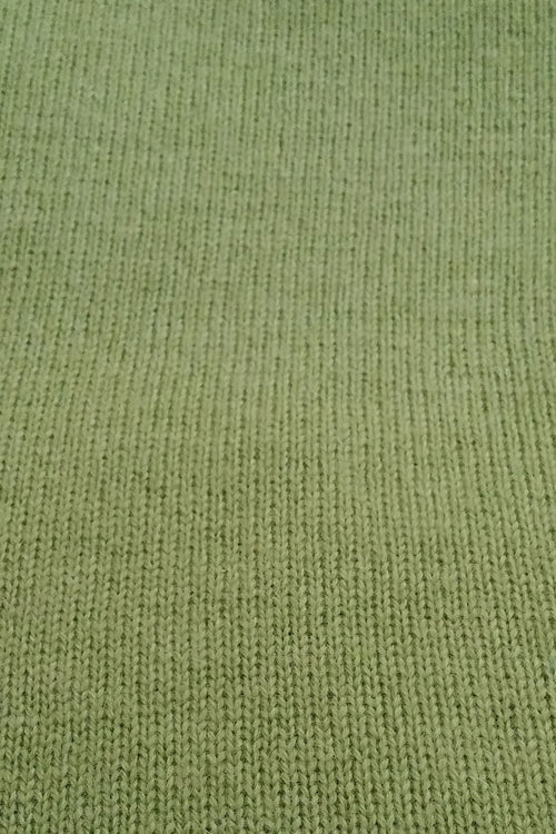 Grass Green Cashmere Poncho by Inspired 2 Give, swatch