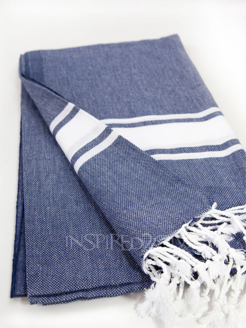 Navy Band Turkish Towel by Inspired2give.com.au