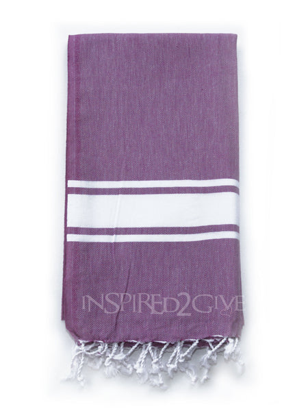 Purple Band Turkish Towel by Inspired2give.com.au