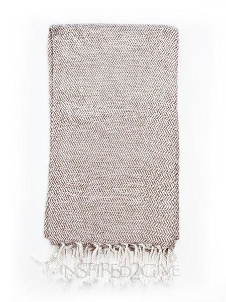 Chocolate Bamboo Turkish Towel Inspired2Give.com.au
