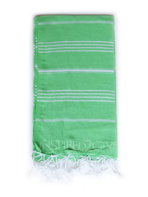 Apple Green Turkish Towel Inspired2Give