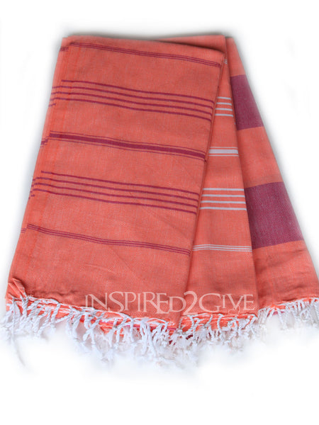 Salmon Turkish Towel Inspired2Give