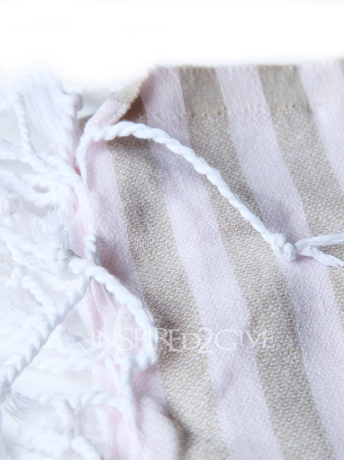 Pink & Coffee Turkish Towel Inspired2Give