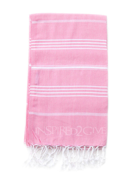 Marshmallow Pink Turkish Towel - Inspired2Give.com.au