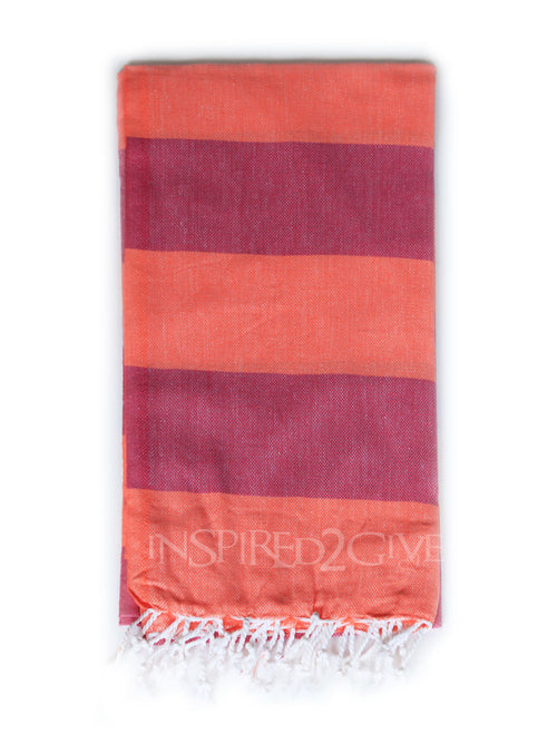 Salmon Bold Turkish Towel Inspired2Give