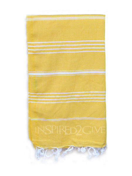 Limoncello Yellow Turkish Towel from Inspired 2 Give