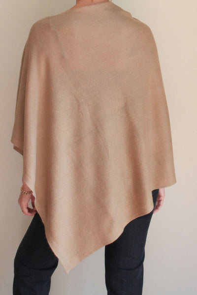 Oatmeal Cashmere Poncho by Inspired 2 Give, back