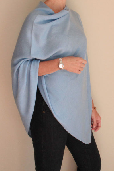 Pale Blue Poncho by Inspired 2 Give, side