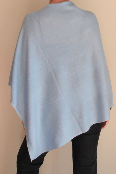 Pale Blue Poncho by Inspired 2 Give, back