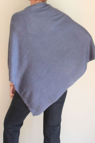 Steel Blue Poncho by Inspired 2 Give, back