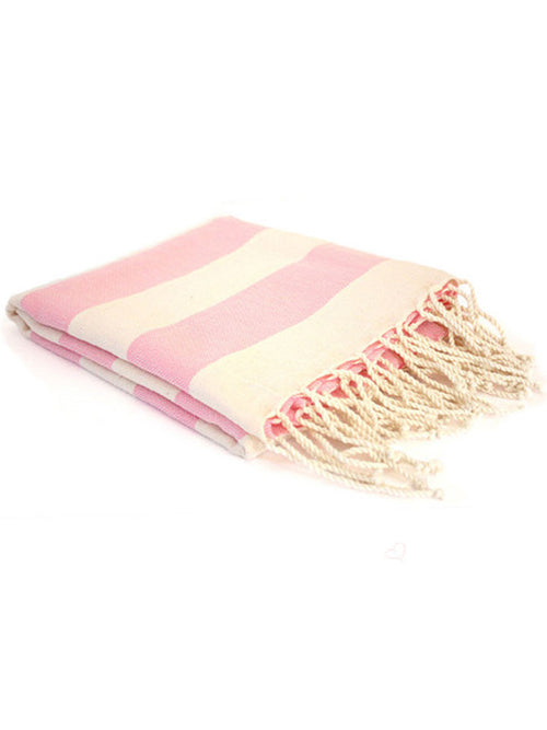 Pink Striped Turkish Towel
