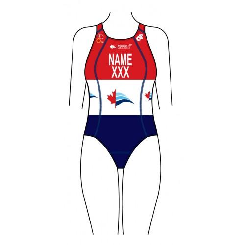 Triathlon Ontario 30 years Women's Performance Swimsuit  (Name & Country)