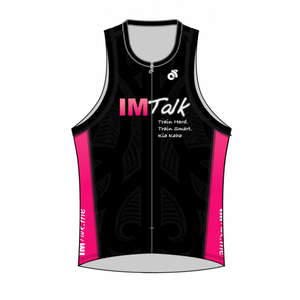 IMTalk Pink Performance Link Tri Top