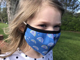 Kids Non-Medical Face Mask - Rainbows