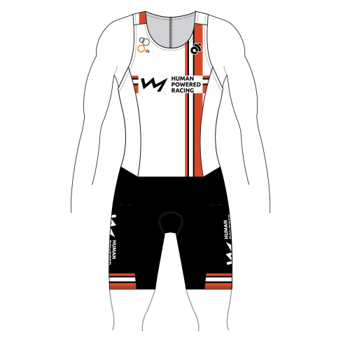 HPR Kids Tech Tri Suit White Back Zipper