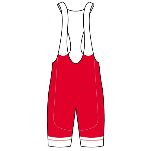 MRR Red Tech BIB Shorts