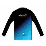 ITU Long Sleeve Run Top Blue