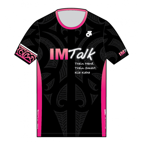 IMTalk Pink Performance Run Top