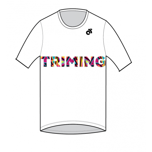 Triming Performance Run Top White