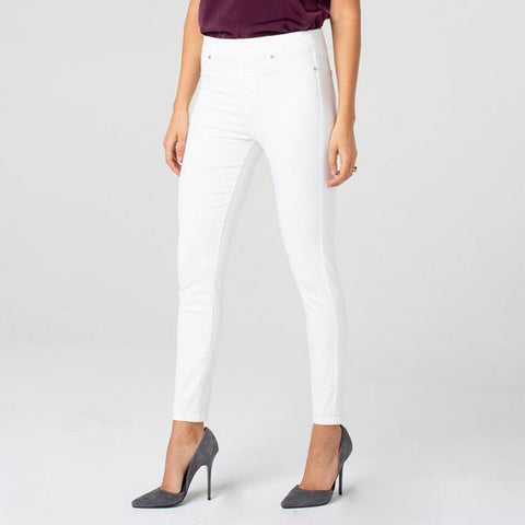 Liverpool Chloe Ankle Skinny Bright White Pull On Denim Jean Savvy Chic Boutique Cleveland Ohio