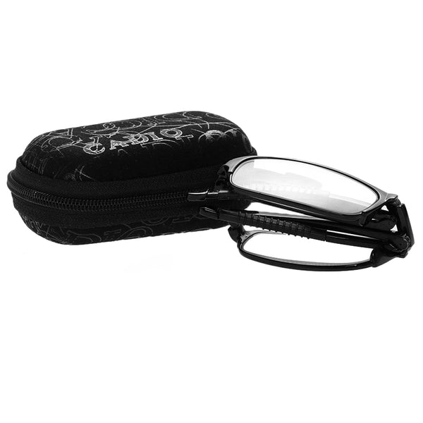 Unisex Fashion Folding Reading Glasses Eyeglass With Case