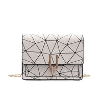 Women Fashion Shoulder Messenger Bags Geometric Plaid Crossbody