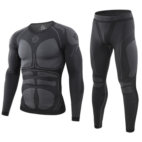 winter Top quality thermo Cycling clothing Men's thermal underwear