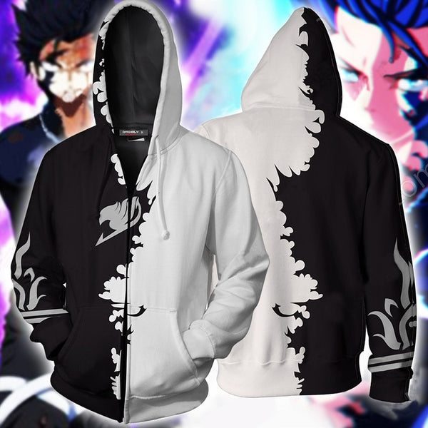 Fairy Tail Gray Zip Up HoodieJacket clothing