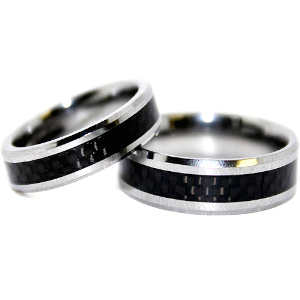 Black-Plated Tungsten Rings