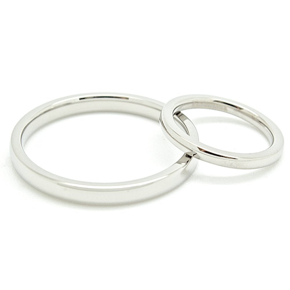 Matching 2mm & 3mm Classic Domed Titanium Wedding Rings Set (See listing for sizes) - New Wedding Rings